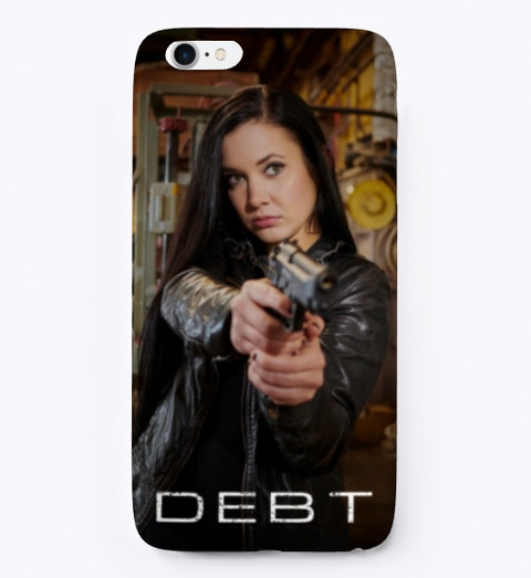 """Debt"" I Phone Case Black T-Shirt Front"