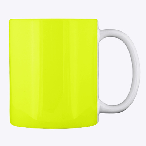 Eat Drink & Be Scary Mug Neon Yellow T-Shirt Back