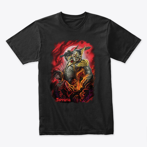 Blood Moon – Terraria Merchandise Black T-Shirt Front