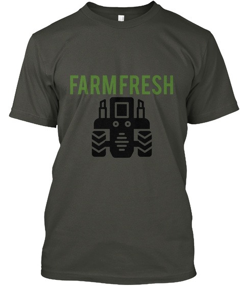 Farm  Fresh Smoke Gray T-Shirt Front