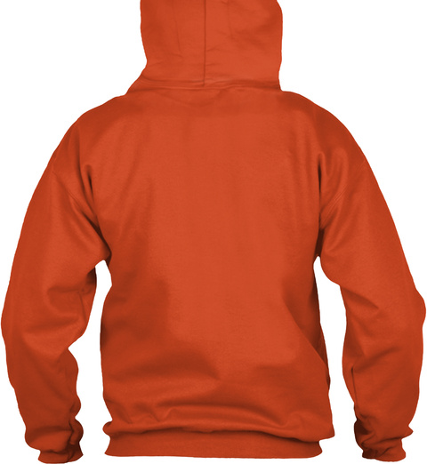Orange Winning Smile  Burnt Orange T-Shirt Back