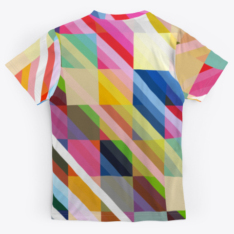 Abstract Multicolor Pixel Stripes Standard T-Shirt Back