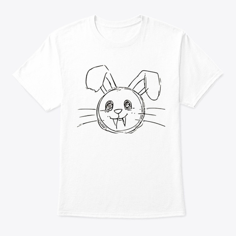 Vampire Bunny  White T-Shirt Front