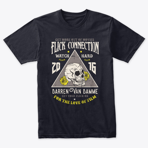 Watch Hard Flick Connection Tee Vintage Navy T-Shirt Front