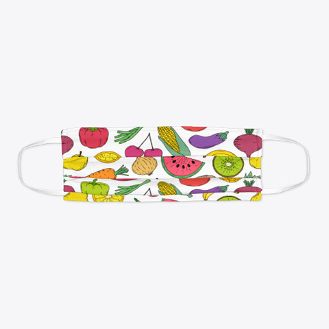 Awesome Gorgeous Fruits Face Mask Standard T-Shirt Flat
