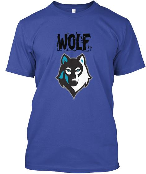 Wolf Deep Royal T-Shirt Front