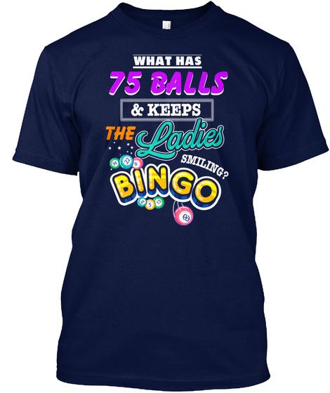 Bingo  Bingo Lover Grandma Mothers Day Navy T-Shirt Front