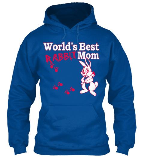 World's Best Rabbit Mom Royal Moletom Front
