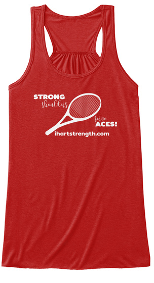 Strong Shoulders Serve Aces! Red Women's Tank Top Front