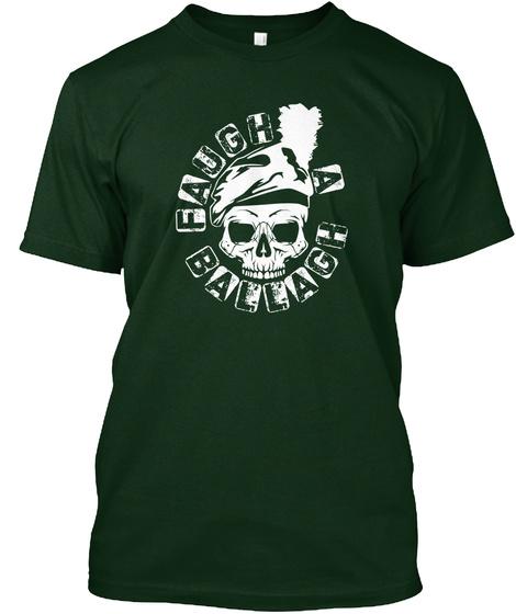 Faugh A Ballagh  Forest Green T-Shirt Front