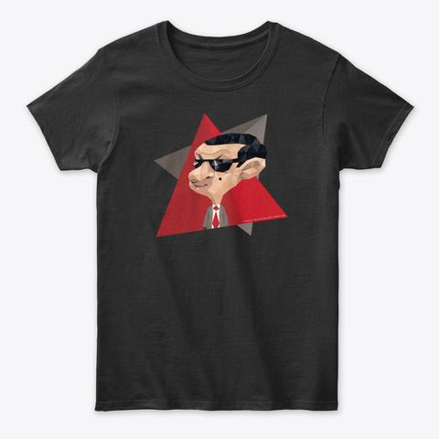 Mr Bean Animation Black T-Shirt Front