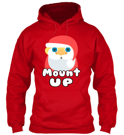 Mount Up Red T-Shirt Front