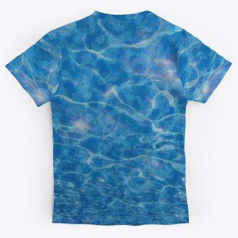 Water Camo Unisex Jersey Standard T-Shirt Back