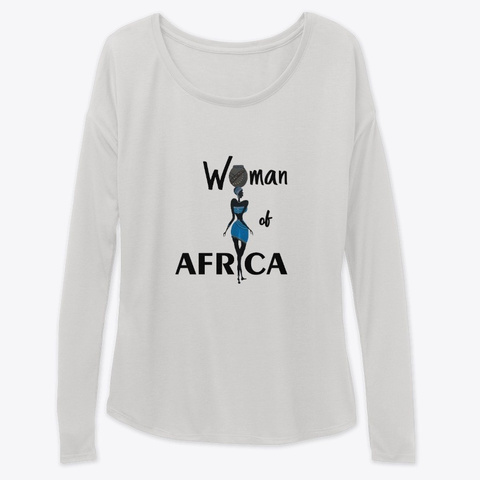 Woman Of Africa Athletic Heather T-Shirt Front