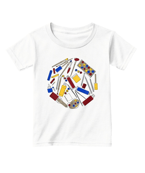 Art Supplies Toddler Tee White  T-Shirt Front