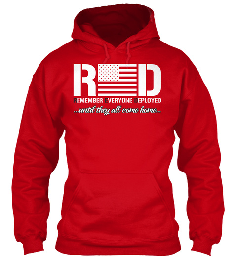 Red Friday Hoodie! Red T-Shirt Front