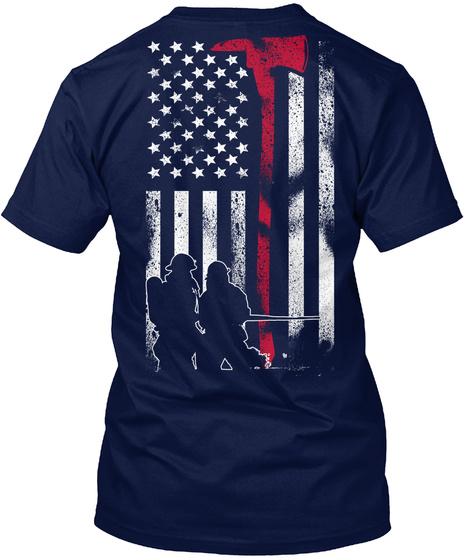 American Firefighter Navy T-Shirt Back