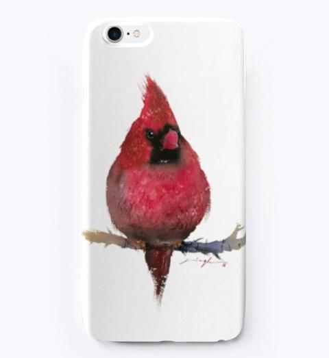 Red Cardinal Watercolor Bird Art Standard T-Shirt Front