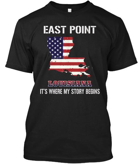 East Point La   Story Begins Black T-Shirt Front
