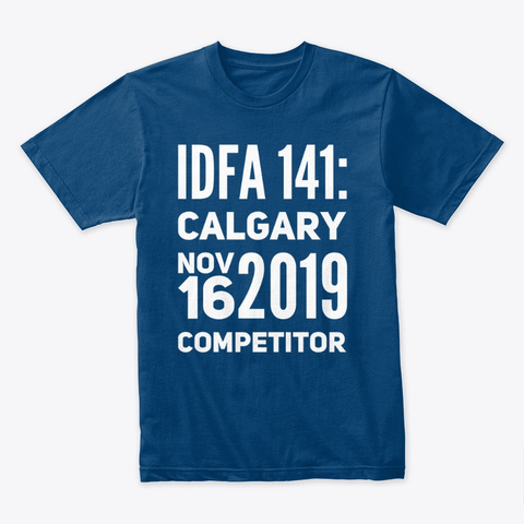 Idfa 141 Calgary Competitor In White  Cool Blue T-Shirt Front