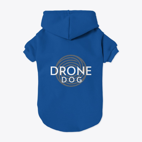 Drone Dog Hoodie Blue T-Shirt Back