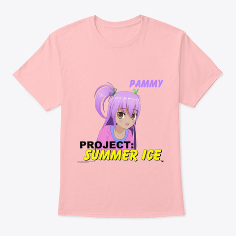 Pammy   01   Project: Summer Ice Shirt Pale Pink T-Shirt Front