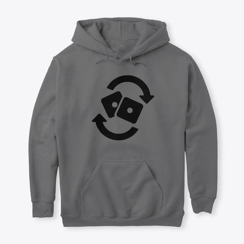 Rolling Solo [Black Logo] Dark Heather T-Shirt Front