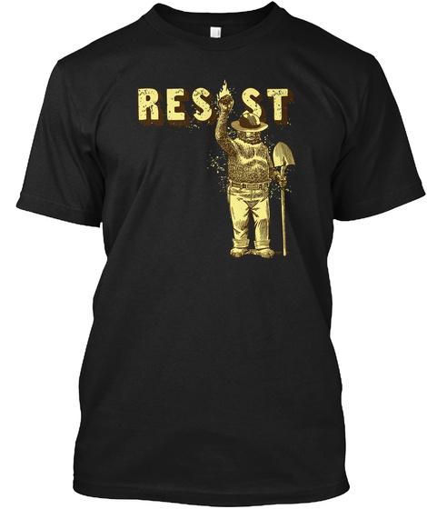 Resist Black T-Shirt Front