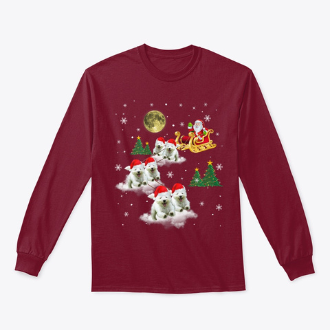 Westie Christmas Funny Westie Dog Lover Cardinal Red T-Shirt Front
