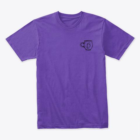 Crystal Pottery Mug Pattern Purple Rush T-Shirt Front