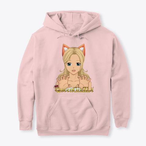Queen Giz Z Le Lewd Collection Light Pink T-Shirt Front