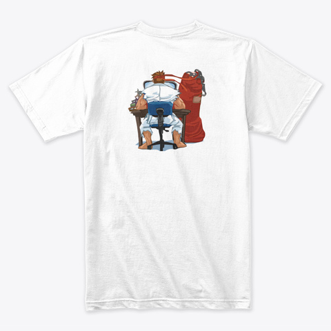 Official Karate Nerd Merch White T-Shirt Back