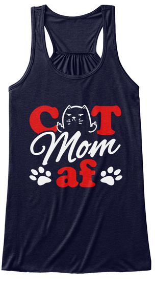 Cat Mom Af Midnight Women's Tank Top Front