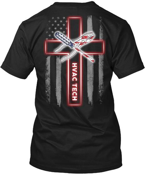 Hvac Tech Black T-Shirt Back
