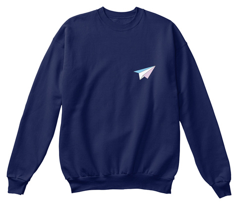 Paper Planes   Trans Flag Navy  T-Shirt Front