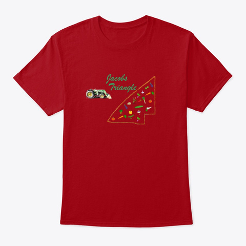 Jacobs Triangle Deep Red T-Shirt Front