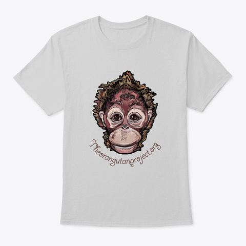Little Orangutan Light Steel T-Shirt Front