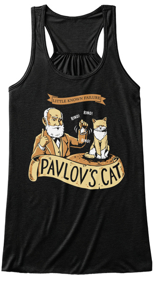Little Known Failure Ring! Ring! Ring! Pavlov's Cat Black Women's Tank Top Front