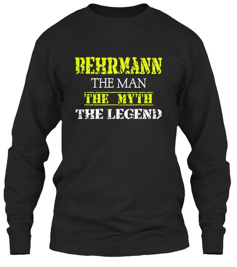 Be Hr Ma Nn The Man The Myth The Legend Black T-Shirt Front