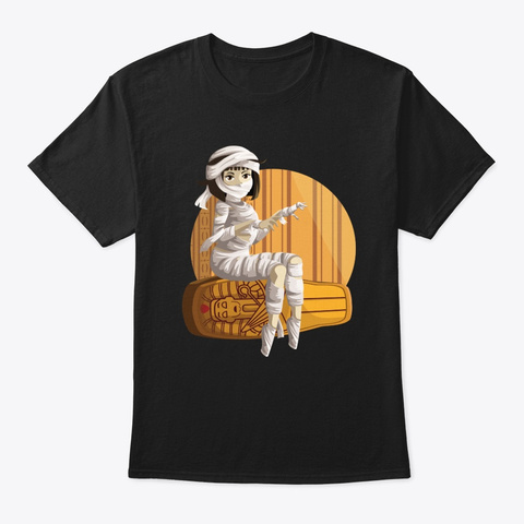 Cleopatra Queen Goddess Egypt Mummy Black T-Shirt Front