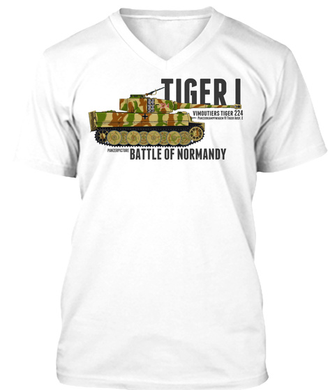 Tiger I 224 Battle Of Normandy New White T-Shirt Front