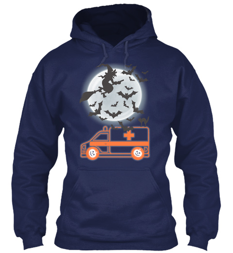 Emt Ems Paramedic Halloween Navy T-Shirt Front