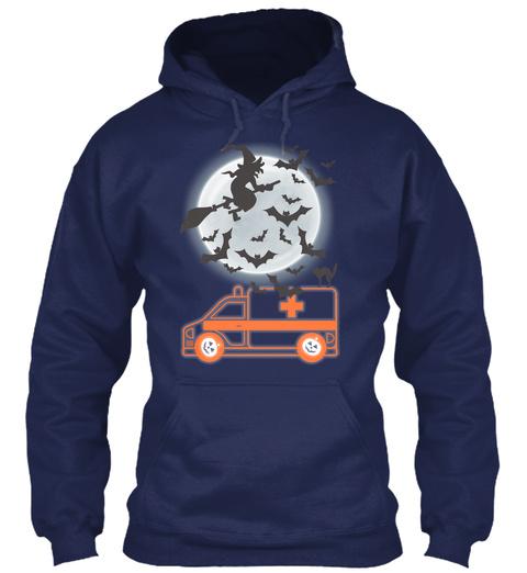 Emt Ems Paramedic Halloween Navy Sweatshirt Front