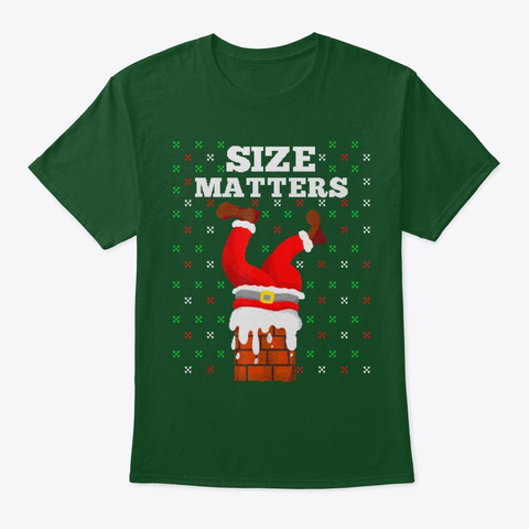 Funny Santa Graphic Xmas Gift Holiday Deep Forest T-Shirt Front