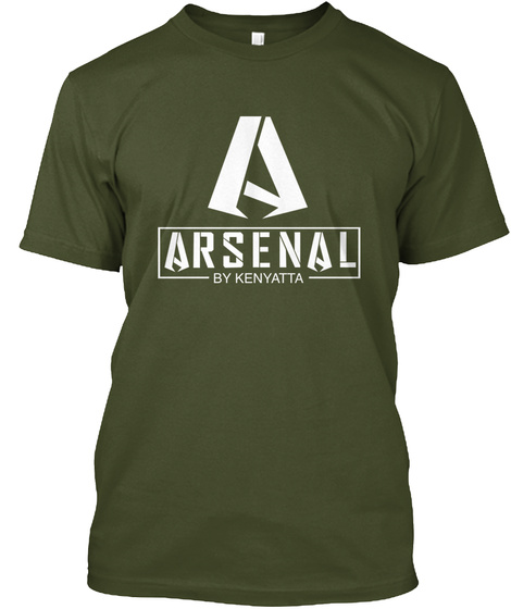Arsenal By Kenyatta Military Green T-Shirt Front