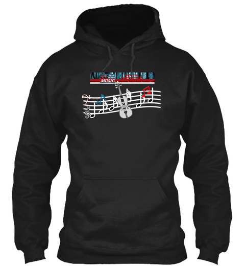 Deep Woods Music T Shirt Hoodie And Mug Black Maglietta Front