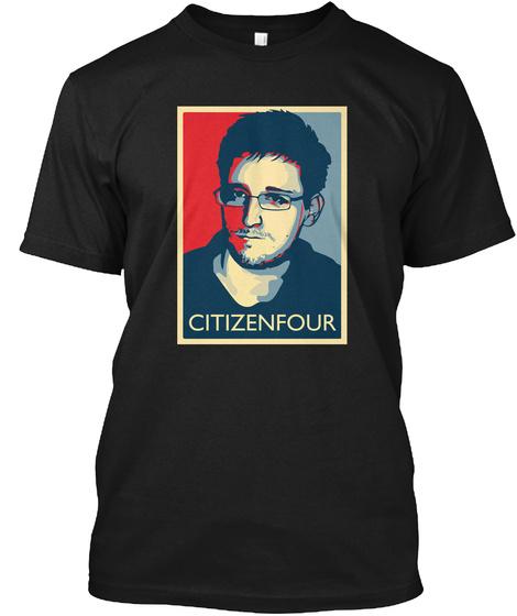 Citizenfour Black T-Shirt Front