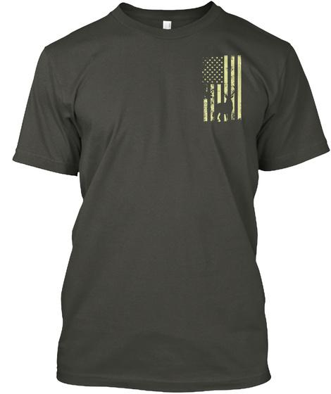 Hunting American Shirt Smoke Gray T-Shirt Front