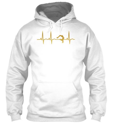 Evolution Ekg Heartbeat Yoga Meditation  White T-Shirt Front