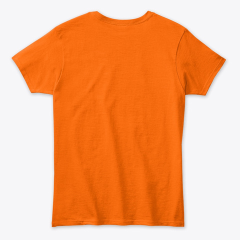 Hangul Tee Orange T-Shirt Back